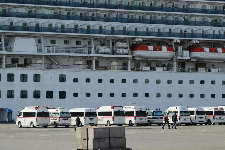 There were more than 3,700 passengers and crew on the ship when it arrived off Japan's coast on Monday evening