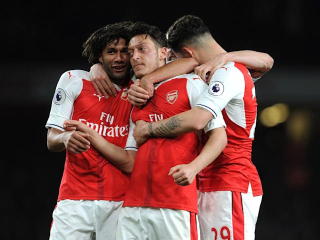 Mesut Ozil found the breakthrough and opened the floodgates: Getty