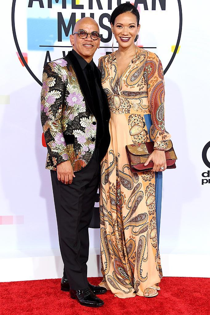<p>Rickey Minor (L) and Rachel Montez Minor attend the 2018 American Music Awards at Microsoft Theater on Oct. 9, 2018, in Los Angeles. (Photo: Steve Granitz/WireImage) </p>