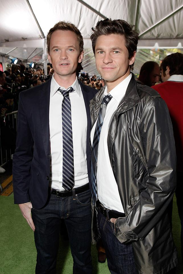 "<a href=""http://movies.yahoo.com/movie/contributor/1800024845"">Neil Patrick Harris</a> and David Burka at the Los Angeles premiere of <a href=""http://movies.yahoo.com/movie/1810188975/info"">The Muppets</a> on November 12, 2011."