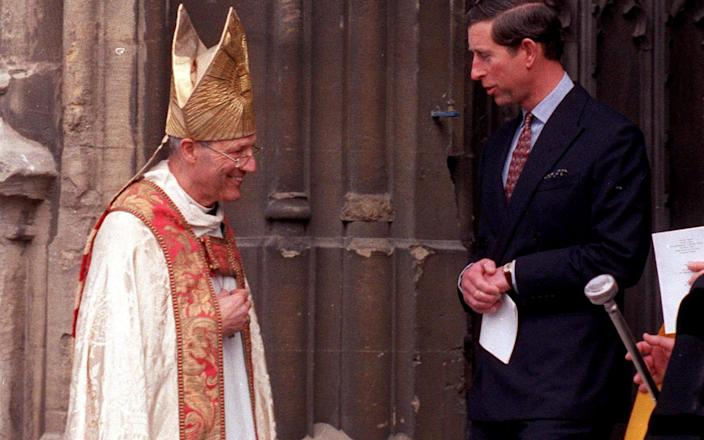 Archive photo dated 1992 of Rev Peter Ball and Prince Charles. - South West News Service