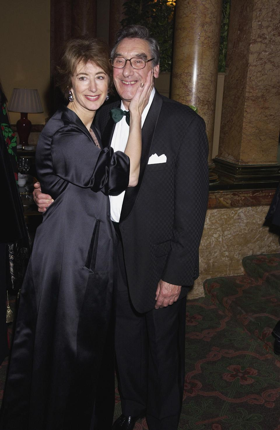 Maureen Lipman and her husband Jack Rosenthal arrive at the first night party for the one woman production Elaine Stritch at the Liberty at the Old Vic Theatre.The party was held at the Savoy Hotel,London on the 9th of October 2002.(Photo by Dave Benett/Getty Images)