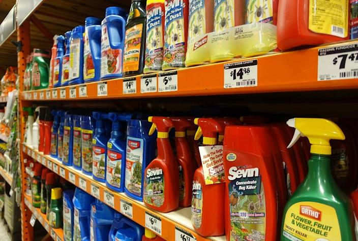 Pesticides are displayed in a store in Miami, Florida on August 9, 2016 (AFP Photo/Kerry Sheridan)