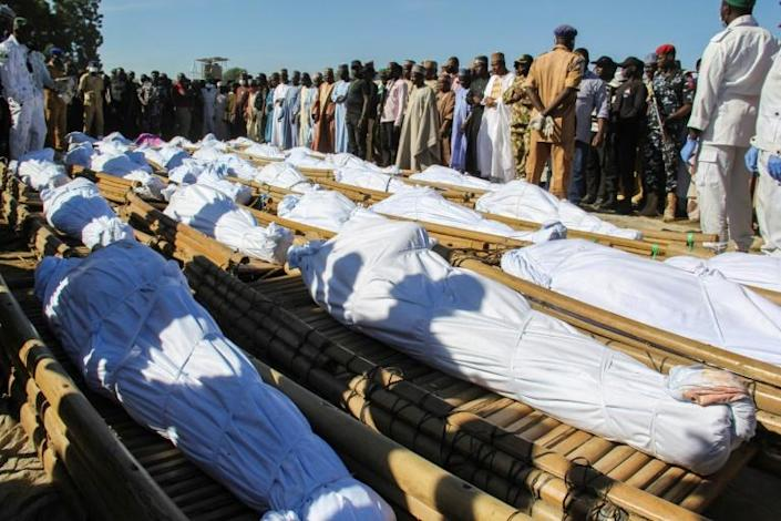 Forty-three of the victims were buried Sunday
