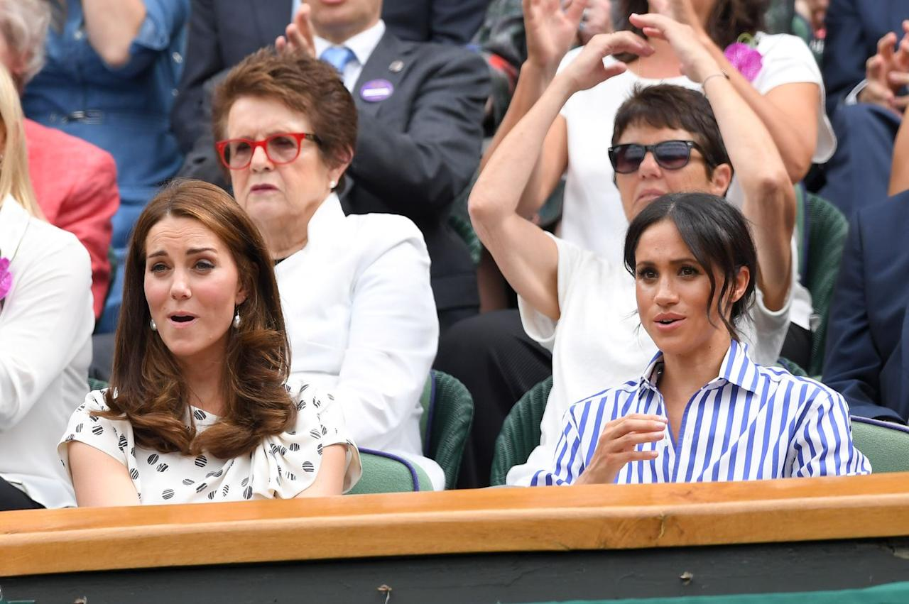 <p>Meghan Markle has a little work to do if she's going to match Kate's sports reaction game. </p>