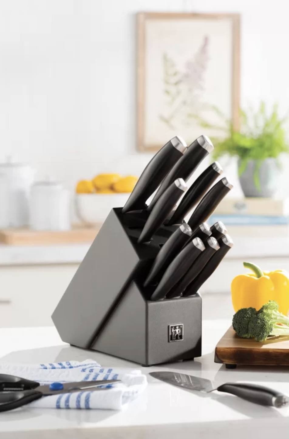 Replace your old knives with this stunning set. (Photo: Wayfair)