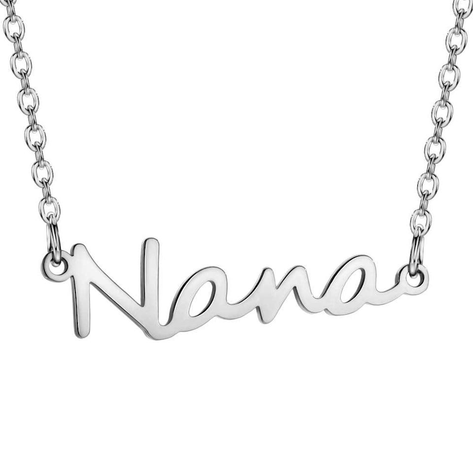 """<br> <br> <strong>JOFUKIN</strong> Nana Necklace, $, available at <a href=""""https://amzn.to/3d8Y42b"""" rel=""""nofollow noopener"""" target=""""_blank"""" data-ylk=""""slk:Amazon"""" class=""""link rapid-noclick-resp"""">Amazon</a>"""