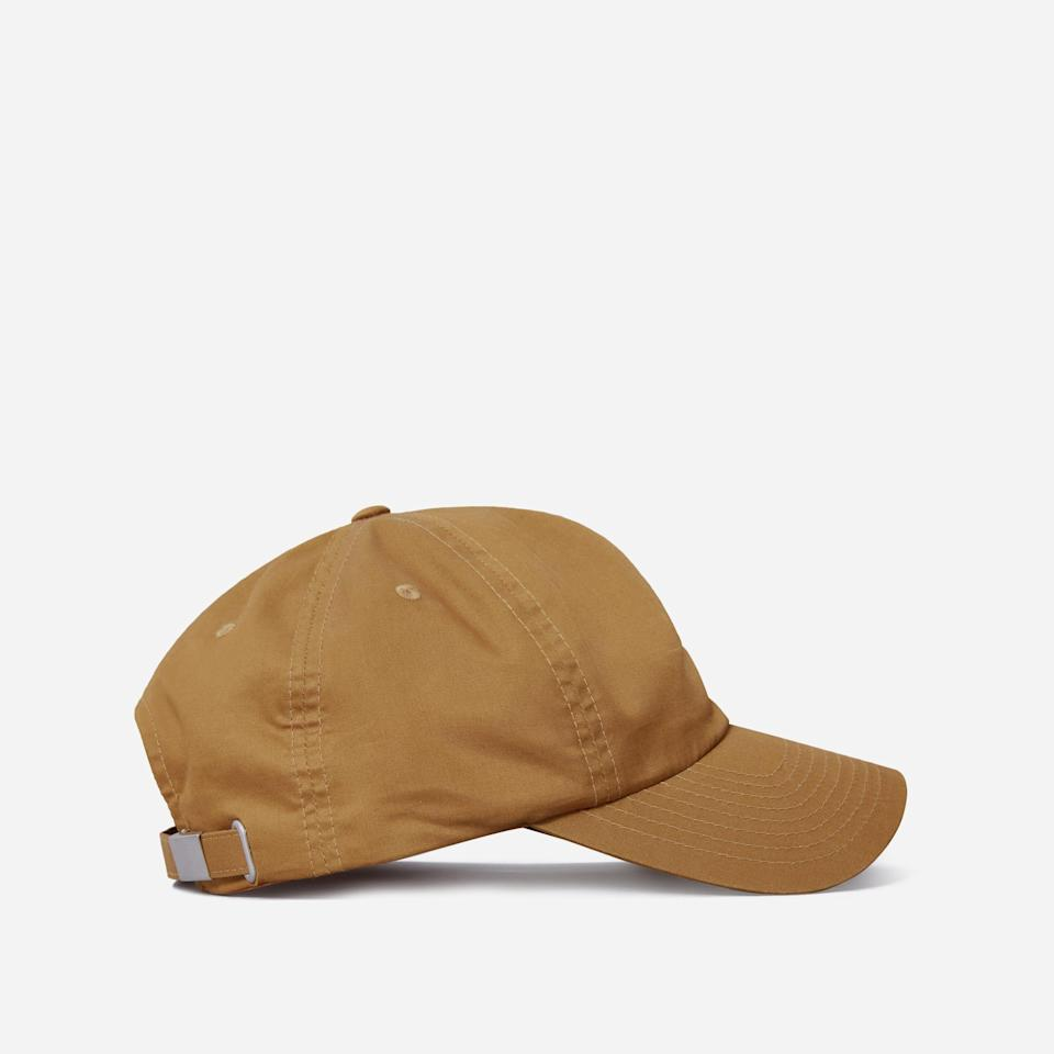 """<h3>Everlane The Baseball Cap</h3>You can't go wrong with a baseball cap! Everlane's durable yet lightweight hat is made from 100% cotton, and is perfect for keeping the sun out of your view. <br><br><br><strong>Everlane</strong> The Baseball Cap, $, available at <a href=""""https://go.skimresources.com/?id=30283X879131&url=https%3A%2F%2Fwww.everlane.com%2Fproducts%2Fwomens-baseball-cap-tan"""" rel=""""nofollow noopener"""" target=""""_blank"""" data-ylk=""""slk:Everlane"""" class=""""link rapid-noclick-resp"""">Everlane</a><br>"""