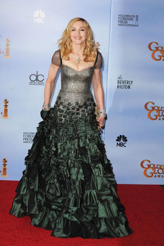 Singer-director Madonna poses in the press room at the 69th Annual Golden Globe Awards held at the Beverly Hilton Hotel on January 15, 2012 in Beverly Hills, California. (Photo by Steve Granitz/WireImage)