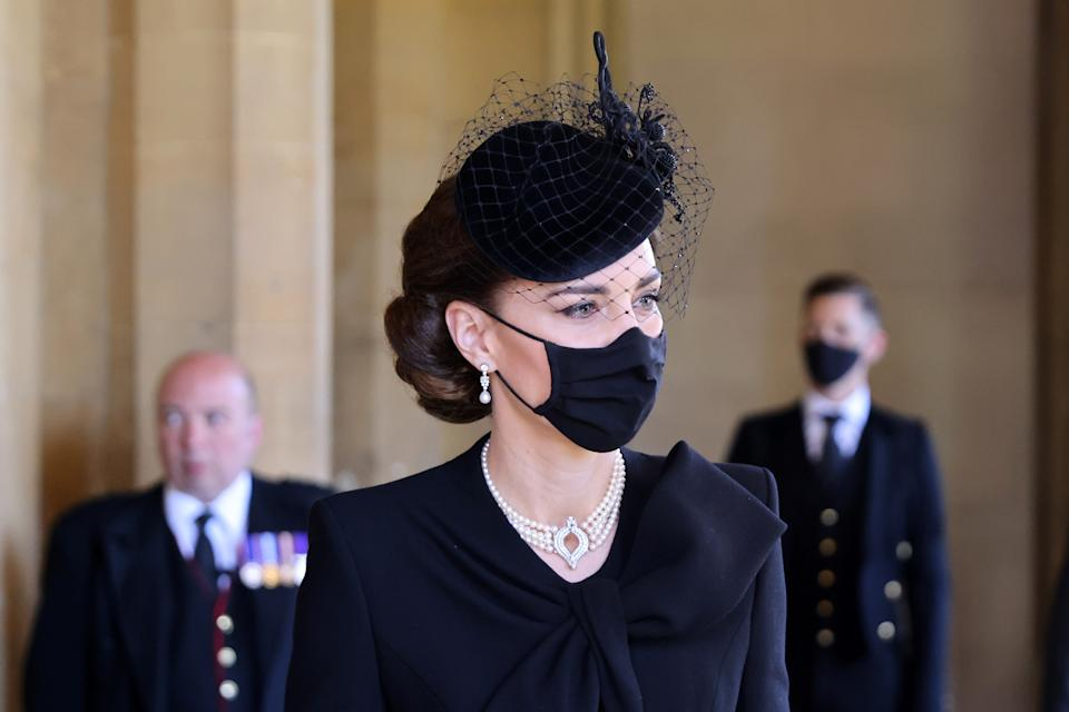 <p>The Duchess of Cambridge was among the 30 people attending the funeral. (Getty Images)</p>