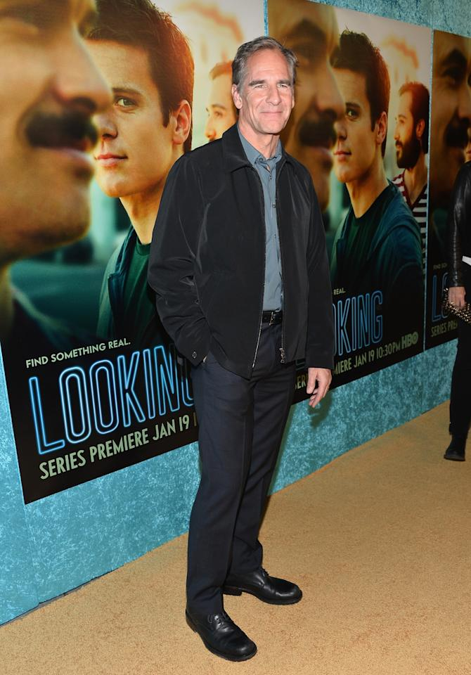 """HOLLYWOOD, CA - JANUARY 15: Actor Scott Bakula arrives to the premiere of HBO's """"Looking"""" at Paramount Theater on the Paramount Studios lot on January 15, 2014 in Hollywood, California. (Photo by Alberto E. Rodriguez/Getty Images)"""