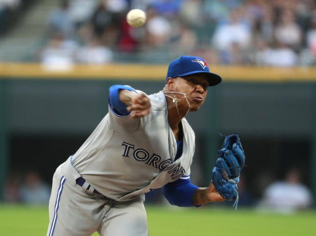 A few people weren't happy with Blue Jays starter Marcus Stroman on Tuesday. (AP)
