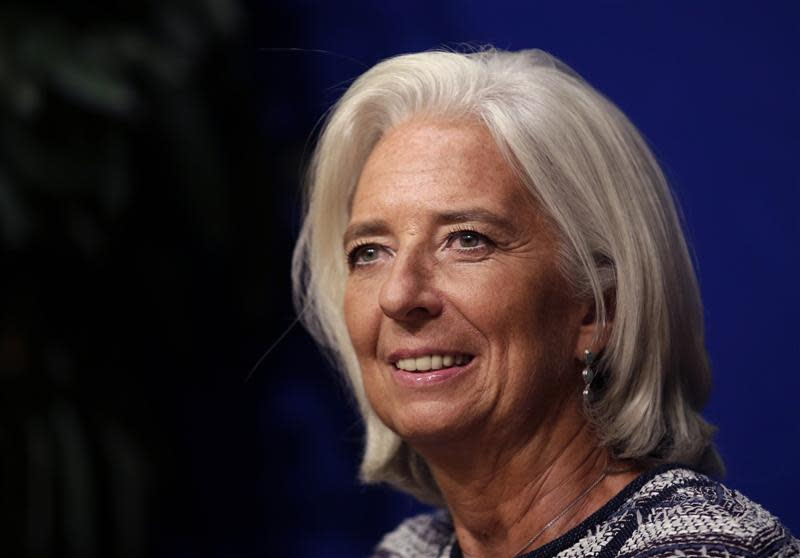 International Monetary Fund Managing Director Lagarde attends a conference in Paris