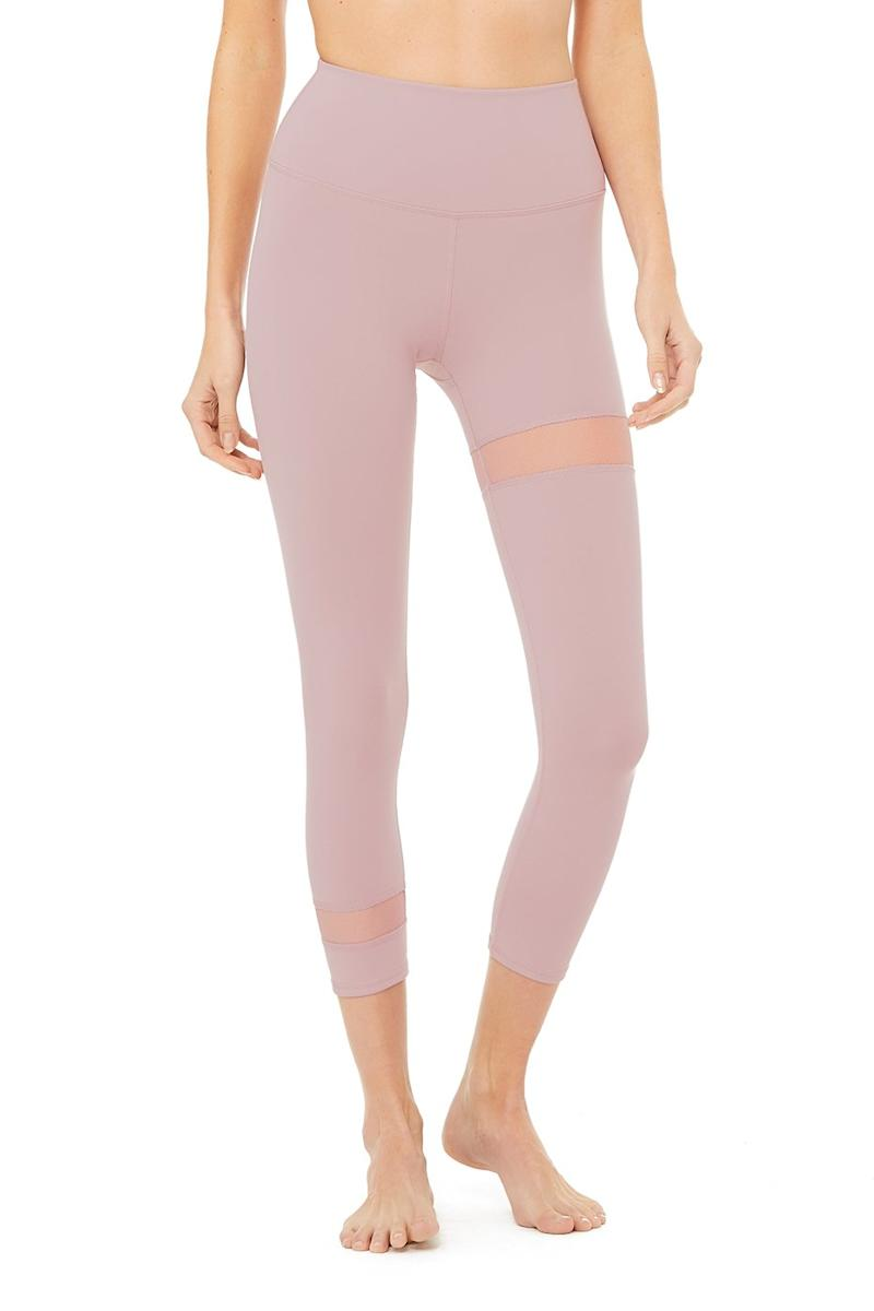 The High-Waist Spatial Capri in Dusted Rose.