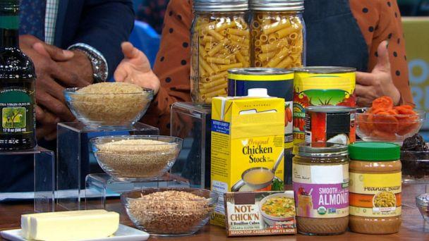 PHOTO: Grains, cooking fat and other non-perishable items are great to hand on hand in the pantry. (ABC News)