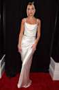 """<p>Ah yes, we're still obsessed with this '90s-inspired ivory two-piece Alexander Wang set, donned for the <a href=""""https://www.cosmopolitan.com/uk/fashion/celebrity/g30653450/grammys-red-carpet-dresses-2020/"""" rel=""""nofollow noopener"""" target=""""_blank"""" data-ylk=""""slk:2020 Grammys red carpet"""" class=""""link rapid-noclick-resp"""">2020 Grammys red carpet</a>.</p>"""