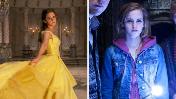 PHOTO: Actress Emma Watson stars as Belle in 'Beauty and the Beast' and as Hermione Granger in 'Harry Potter and the Deathly Hallows - Part 2.' (Disney | Warner Bros.)