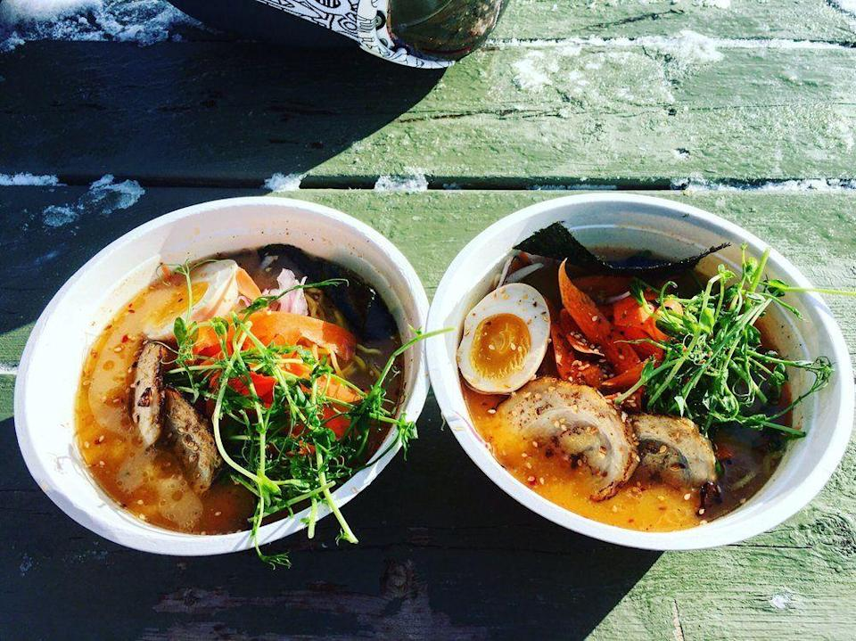 """<p><strong><a href=""""https://www.yelp.com/biz/miso-hungry-jay-3"""" rel=""""nofollow noopener"""" target=""""_blank"""" data-ylk=""""slk:Miso Hungry"""" class=""""link rapid-noclick-resp"""">Miso Hungry</a>, Jay</strong></p><p>""""The Ramen is fantastic! I come from New York and it certainly holds up to the Ramen places there. There is outdoor seating with a nice gas fire, but you're also welcome to take your Ramen into one of the ski lodges."""" – Yelp user <a href=""""https://www.yelp.com/user_details?userid=xpk-oXb5CFlK6IMxfCaDFQ"""" rel=""""nofollow noopener"""" target=""""_blank"""" data-ylk=""""slk:Elisha E."""" class=""""link rapid-noclick-resp"""">Elisha E.</a></p><p>Photo: Yelp/<a href=""""https://www.yelp.com/user_details?userid=CvEJxu4gfEeG2FPaJKkD3w"""" rel=""""nofollow noopener"""" target=""""_blank"""" data-ylk=""""slk:Idy T."""" class=""""link rapid-noclick-resp"""">Idy T.</a></p>"""