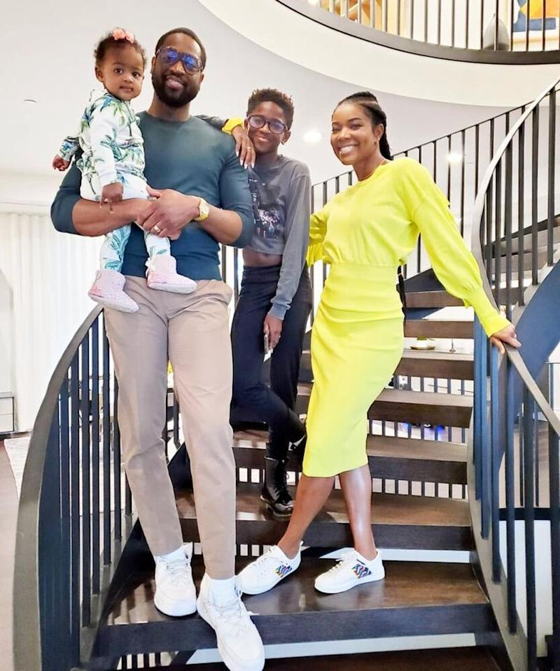 Gabrielle Union, Dwyane Wade and family | Gabrielle Union-Wade/Instagram