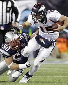 Rob Ninkovich had one-and-a-half of the Patriots' five sacks of Tim Tebow last week