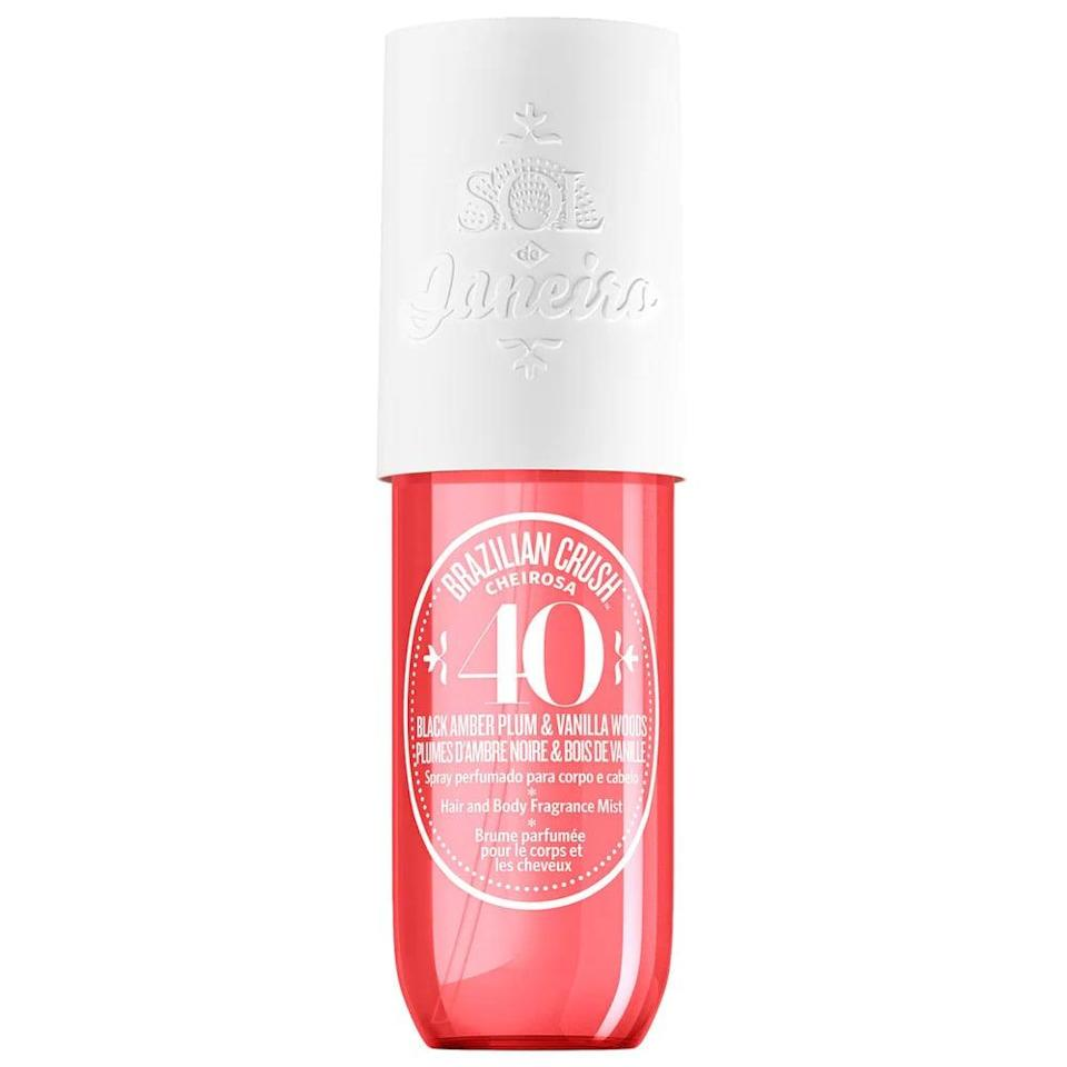 <p>Refresh your scent throughout your summer adventures with this sweet and tropical <span>Sol de Janeiro Brazilian Crush Cheirosa '40 Bom Dia Hair &amp; Body Fragrance Mist</span> ($19).</p>