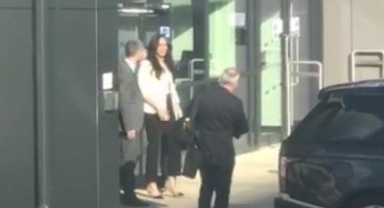 The Duchess of Sussex was spotted at a school in east London. (Twitter/Alimat Aliyu)