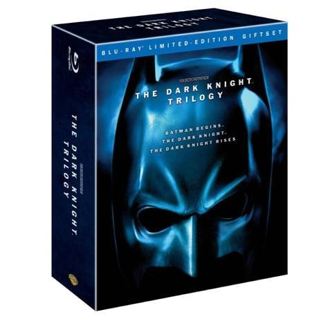 <p>This <span>Dark Knight Trilogy</span> DVD set ($49) will keep him glued to the tube. </p>