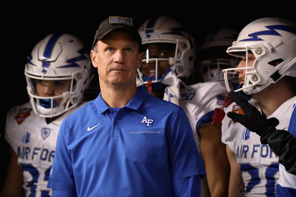 Is Kansas the right job to finally lure Air Force head coach Troy Calhoun into the Power 5? (Photo by Christian Petersen/Getty Images)