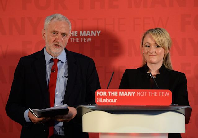 Labour leader Jeremy Corbyn's supporters are backing Rebecca Long-Bailey, right. (PA Images)