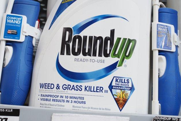 Bottles of Monsanto's Roundup are seen for sale June 19, 2018 at a retail store in Glendale, California.