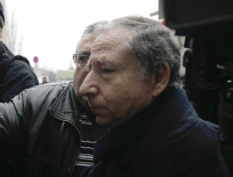 President of the Federation Internationale de l'Automobile (FIA) Jean Todt arrives at the Grenoble hospital where former seven-time world Formula One champion Michael Schumacher is being treated after sustaining a head injury during a ski accident in French Alps, Saturday, Jan. 4, 2014. Schumacher has been in a medically induced coma since Sunday, when he struck his head on a rock while on a family vacation. (AP Photo/Claude Paris)