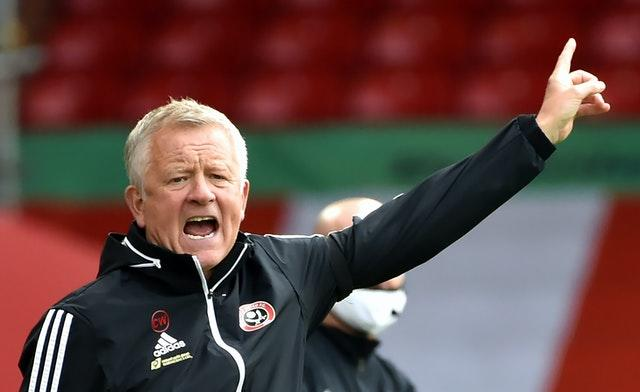 Chris Wilder's Sheffield United face Burnley in the Carabao Cup on Thursday night (Rui Vieira/NMC Pool/PA).