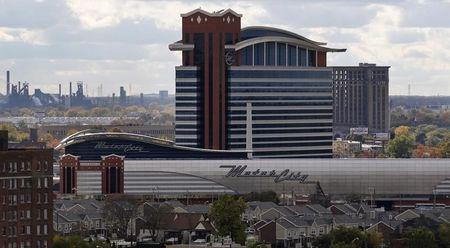The Motor City Casino and Hotel is seen near downtown Detroit, Michigan