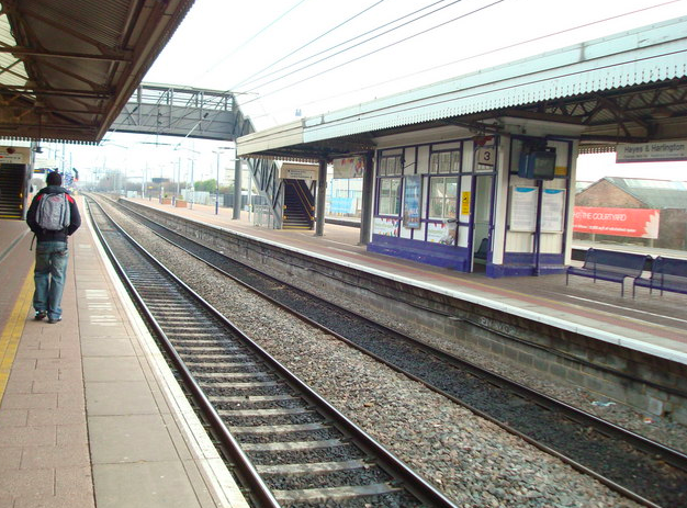 Trapped: The incident took place at Hayes and Harlington station (Geograph)