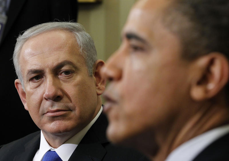 President Barack Obama meets with Israeli Prime Minister Benjamin Netanyahu, Monday, March, 5, 2012, in the Oval Office of the White House in Washington. (AP Photo/Pablo Martinez Monsivais)