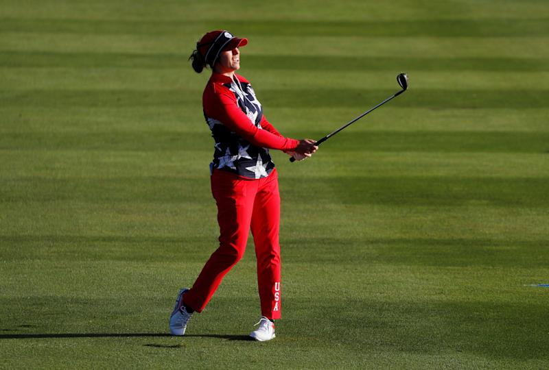 Team USA's Marina Alex is unbeaten in her foursomes and fourballs with two halves and a win from her three matches