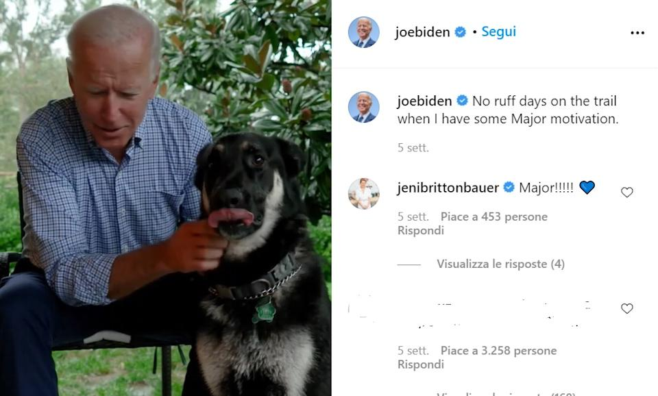 Joe Biden con Major