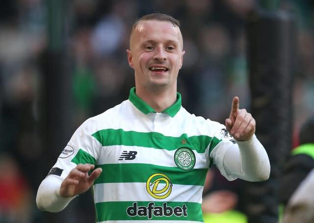 Leigh Griffiths netted a hat-trick (Andrew Milligan/PA)