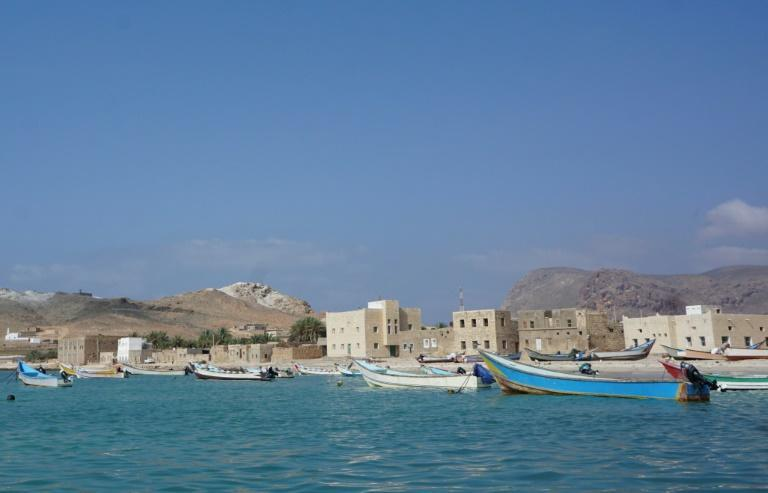 Boats at Qalansiyah on the west of Socotra, the second biggest settlement on the Indian Ocean archipelago