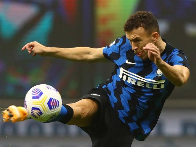 <p>Ivan Perisic shoots at goal</p>Getty