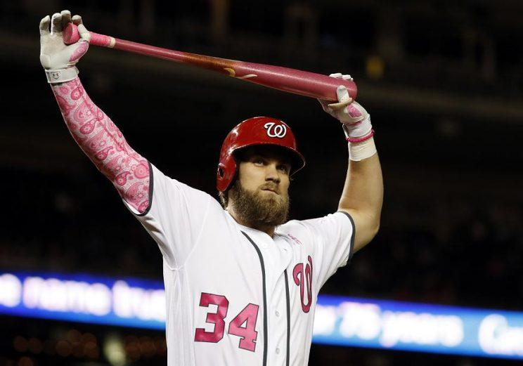 You will not find a participation trophy on Bryce Harper's mantle. (AP)