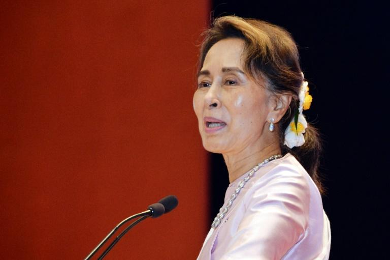 Myanmar's State Counselor Aung San Suu Kyi has faced criticism from her onetime Western admirers for not speaking out against abuses against the Rohingya minority