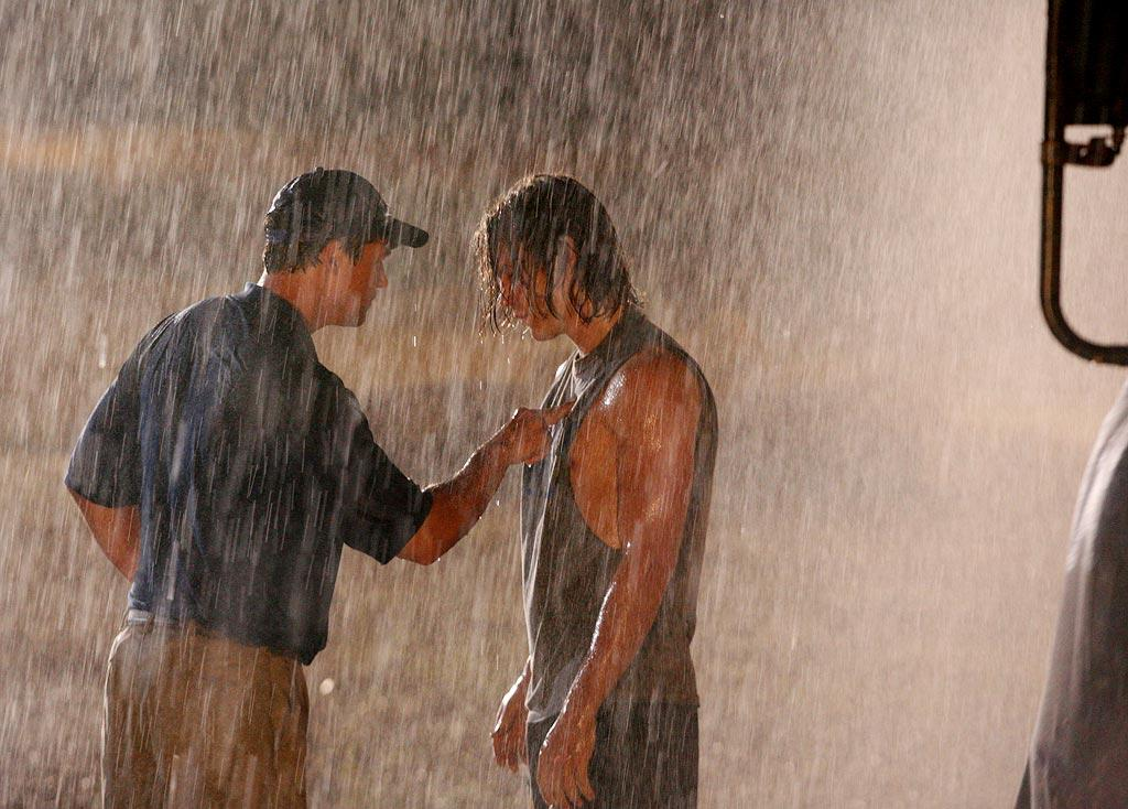 "After a tough loss, <a href=""/kyle-chandler/contributor/57997"">Coach Taylor</a> takes <a href=""/taylor-kitsch/contributor/2182087"">Tim Riggins</a>. and the rest of the team for a late-night impromptu workout in the rain.  <a href=""/friday-night-lights/show/38958"">Friday Night Lights</a>"