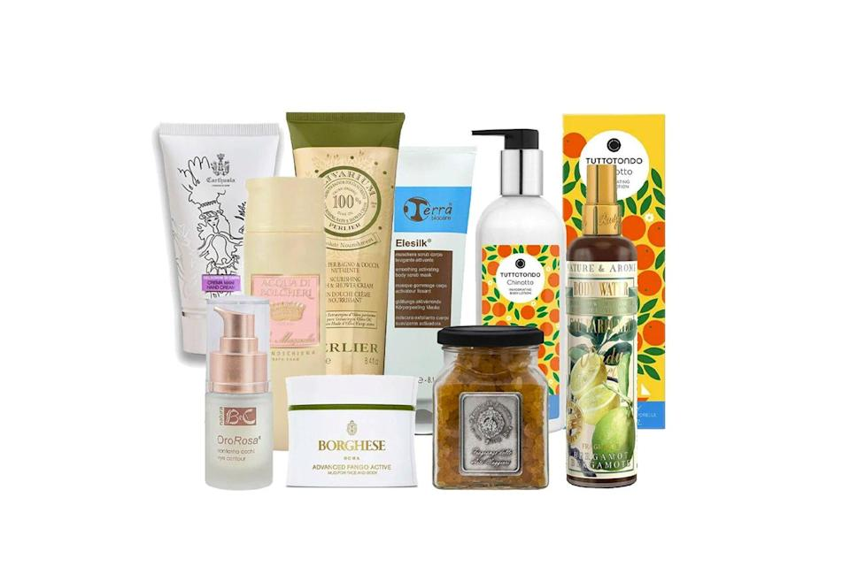 Various beauty products gift set