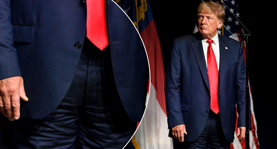 A Getty photo appears to show a fly on his pants. Source: Getty