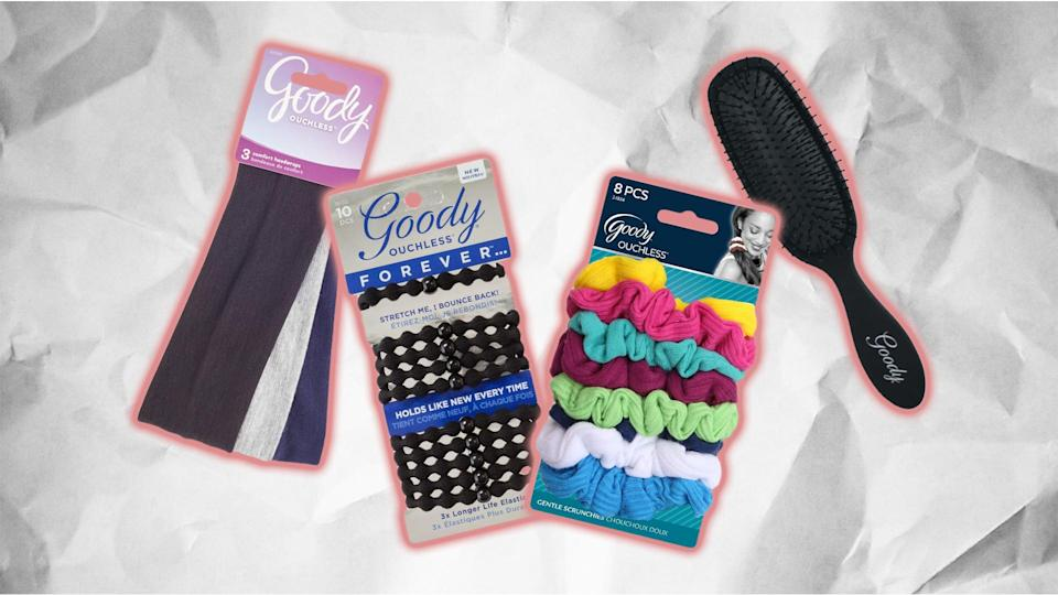 Goody products, including sustainable and natural hair accessories made of plant-based and earth-friendly materials, so you can do good while looking good.
