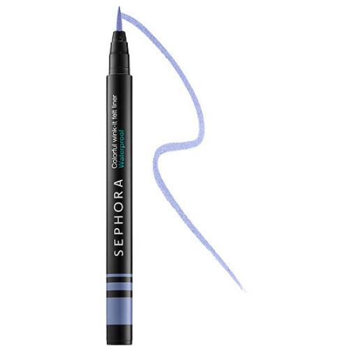 "<p>This liquid eyeliner is intensely pigmented even in the lightest shades. Forgo your black cat eye and try a blue liner, instead. <b><a href=""http://www.sephora.com/colorful-wink-it-felt-liner-waterproof-P398001?skuId=1698745"">Sephora Colorful Wink-It Felt Liner Waterproof in Baby Blues</a> ($14)</b></p>"