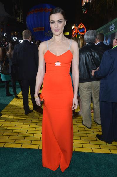 <b>Rachel Weisz </b><br><br>The Oz the Great and Powerful actress stole the show at the film's world premiere in LA in this body-sculpting, orange Victoria Beckham frock.<br><br>Image © Getty