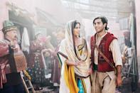 """<p>Is <strong><a href=""""https://www.popsugar.com/entertainment/Aladdin-Reboot-Trailer-45369402"""" class=""""link rapid-noclick-resp"""" rel=""""nofollow noopener"""" target=""""_blank"""" data-ylk=""""slk:Aladdin"""">Aladdin</a></strong> what you instantly think of when you're imagining romantic movies? OK, no, maybe not. But the Guy Ritchie-directed remake tells the story we know and love of the street rat from Agrabah, starring Mena Massoud as Aladdin, Naomi Scott as Jasmine, and <a class=""""link rapid-noclick-resp"""" href=""""https://www.popsugar.com/Will-Smith"""" rel=""""nofollow noopener"""" target=""""_blank"""" data-ylk=""""slk:Will Smith"""">Will Smith</a> as a very, VERY blue Genie. And of course there's a ton of romance woven into the story that you can look forward to!</p>"""