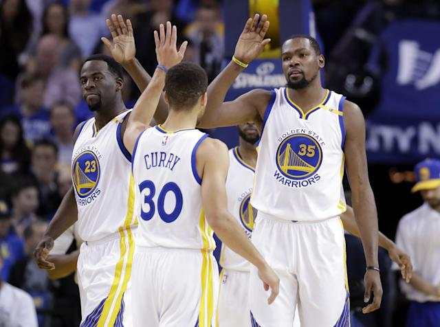 The Warriors own the league's best record, but they're still figuring out how to make their All-Star pieces fit together. (AP)
